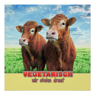 VEGETARIAN we stehn on it Poster