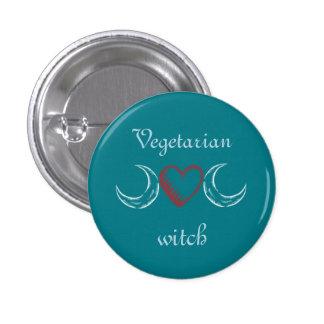 Vegetarian witch 1 inch round button