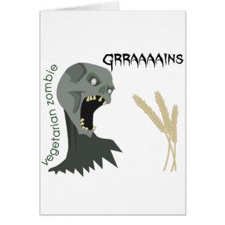 Vegetarian Zombie wants Graaaains! Card