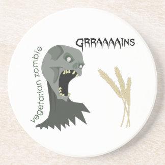 Vegetarian Zombie wants Graaaains! Coaster