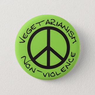 vegetarianism non-violence 2 inch round button