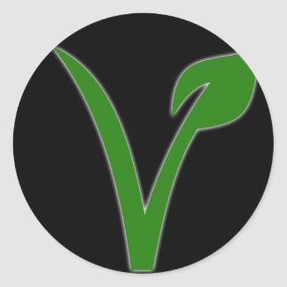 Vegetarianism Round Sticker