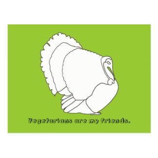 Vegetarians are my friends, turkey postcards
