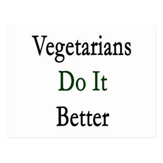 Vegetarians Do It Better Postcard
