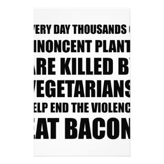 Vegetarians Eat Bacon Stationery