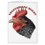 Vegetarians rule! - Card