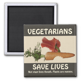 Vegetarians Save Lives Magnet