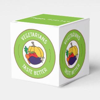 Vegetarians taste better party favour box wedding favor boxes