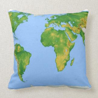 Vegetation Map 4 Throw Pillow