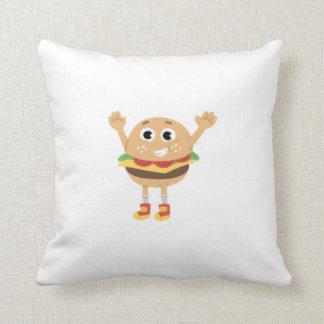 Veggie & Angus Throw Pillow