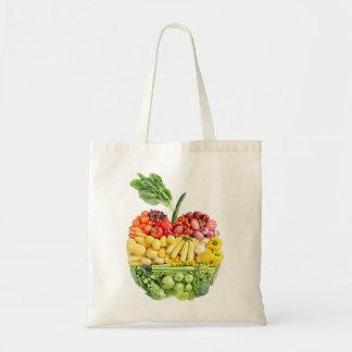 Veggie Apple Budget Tote Bag