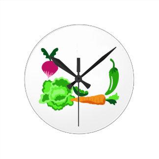 Veggie Corner Wall Clocks