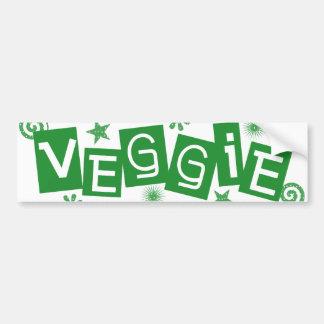 Veggie, For Vegetarians and Vegans Bumper Sticker