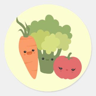 Veggie Friends Classic Round Sticker