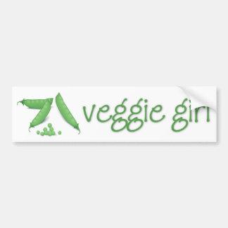 Veggie Girl Bumper Sticker