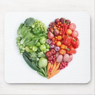 Veggie Heart Mouse Pad