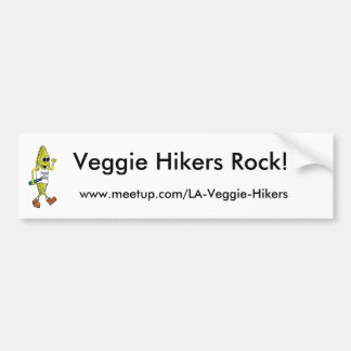 Veggie Hikers Rock! Bumper Sticker