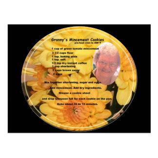 Veggie Mincemeat Cookie Recipe Postcard