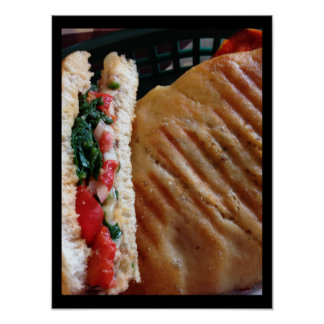 Veggie Panini Photo Poster
