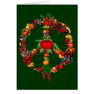 Veggie Peace Sign Greeting Card