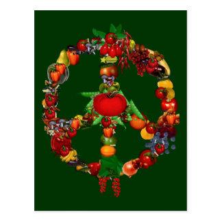 Veggie Peace Sign Postcard