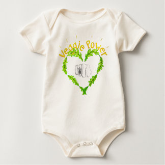 Veggie Power ecological nest muck/bug suit, Baby Bodysuit