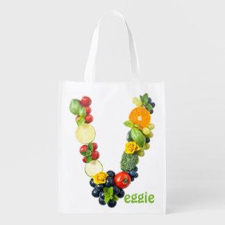 Veggie Power Reusable Grocery Bag