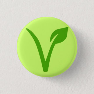 veggie pride,vegan,vegetarian,vegetarians,vegans 1 inch round button