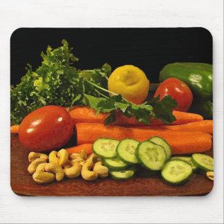 Veggie Salad Plate Mouse Pad