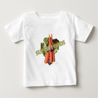 Veggie Super-Food Carrots Lettuce Cool Baby T-Shirt