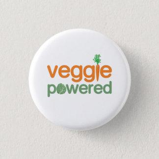 Veggie Vegetable Powered Vegetarian 1 Inch Round Button