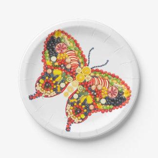 VeggieArt butterfly 7 Inch Paper Plate