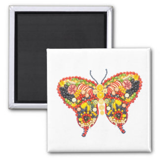 VeggieArt butterfly Square Magnet