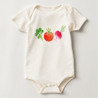 Veggies Broccoli, Tomato and Beet baby bodysuit