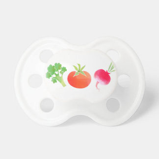 Veggies Broccoli, Tomato and Beet baby pacifier