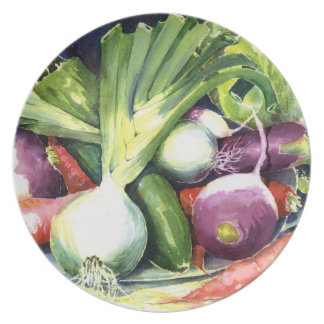 Veggies for Soup Party Plate