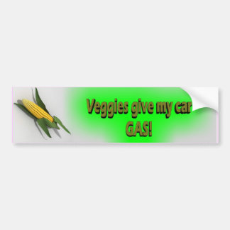 Veggies Give My Car Gas Sticker Bumper Sticker