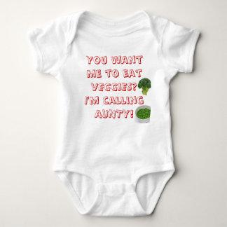VEGGIES on a onsie Baby Bodysuit