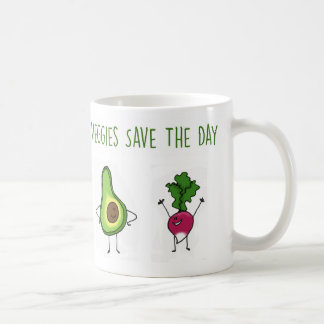 Veggies Save The Day Avocado and Radish Mug