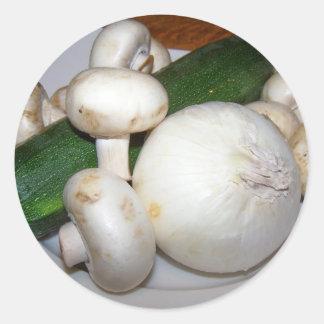 veggies round sticker