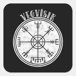 VEGVISIR  Icelandic compass Stave Square Sticker