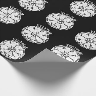 VEGVISIR  Icelandic compass Stave Wrapping Paper