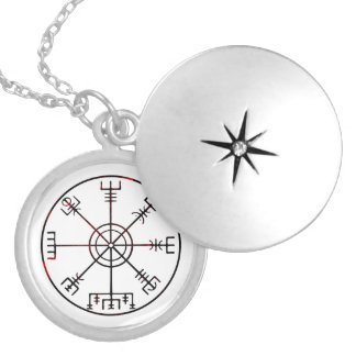Vegvisir Icelandic Protective Runes Silver Plated Necklace