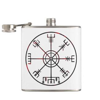 Vegvisir runic compass flask