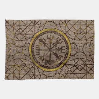 Vegvisir. The Magic Navigation Viking Compass Kitchen Towel