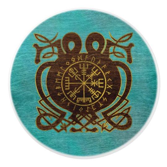 Vegvisir - Viking  Navigation Compass Ceramic Knob