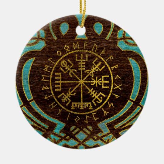 Vegvisir - Viking  Navigation Compass Ceramic Ornament