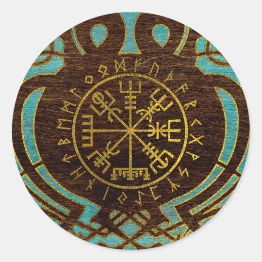 Vegvisir - Viking  Navigation Compass Classic Round Sticker