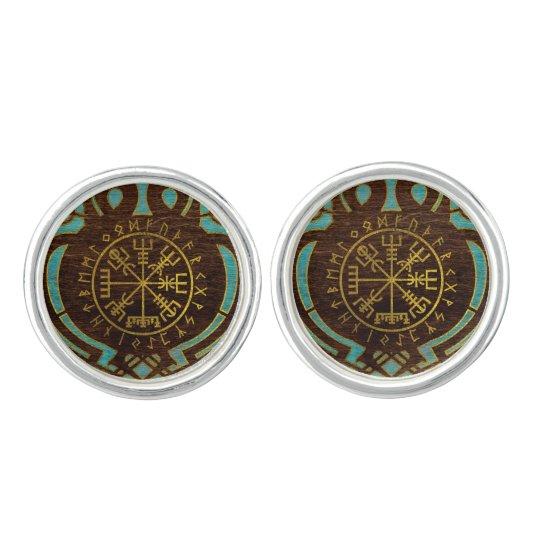 Vegvisir - Viking  Navigation Compass Cufflinks