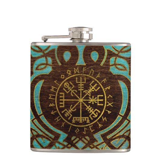 Vegvisir - Viking  Navigation Compass Hip Flask